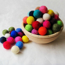 150pcs/lot wool felt ball colourful ball 20mm multicolors flocking ball Wool jewelry beads DIY craft accersory(China)