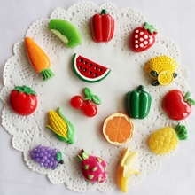 Mini Fruits Vegetables Magnetic Fridge Message Board Magnets Blackboard magnet stickers Watermelon orange tomato model(China)