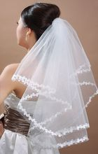 On sale~All Match Flower Edge Bridal Veil 65