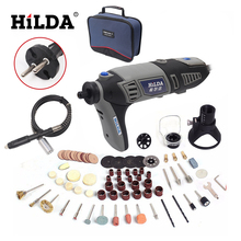 HILDA Russia 220V 180W for Dremel Electric Rotary Power Tool Mini Drill with Flexible Shaft 132pcs Accessories Set Storage Bag(China)
