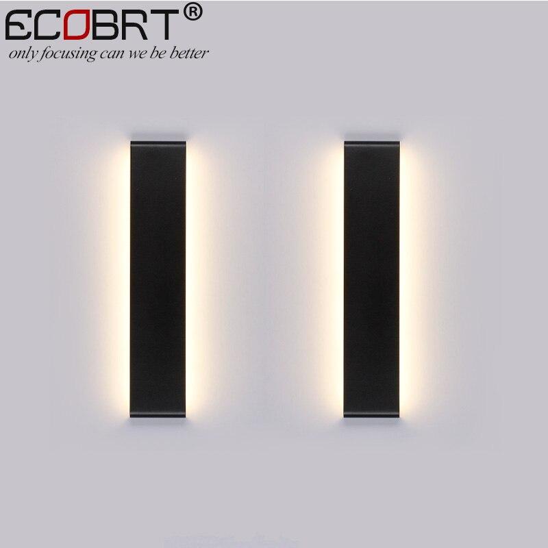 Modern 6W Indoor Wall Lamps 24cm Long Aluminum LED in Foyer as Decoration Sconces Bedroom Light Black & White Color90-260V ac