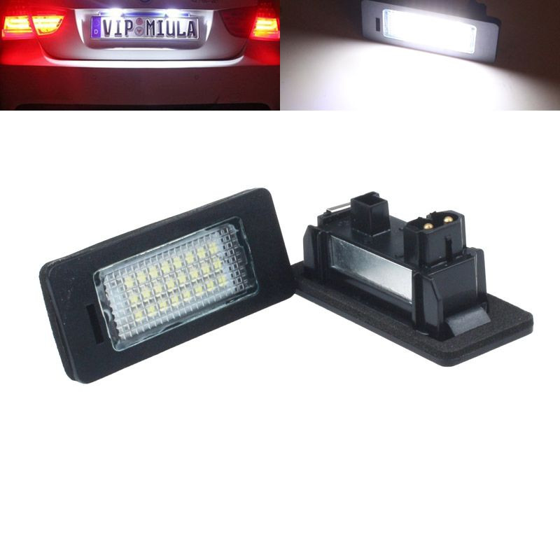 New Arrival  2x 24 LED License Plate Number Light Lamp for BMW E39 E46 E60 E61 E70 E82 E88 E90 E91 M3<br><br>Aliexpress