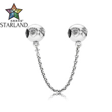Buy Starland 2017 New Pretty Bow Tie Safety Chain 100% Genuine Sterling Silver 925 DIY Making Jewelry Fits Original Charm Bracelets for $11.96 in AliExpress store