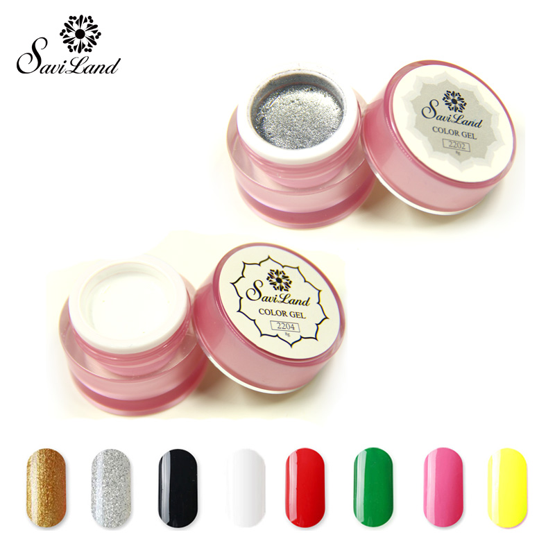 Saviland New Arrival 1pcs Painting UV GEL 12 Different Colors 3D Nail Art Paint Color UV Gel Polish Draw DIY Nail Art(China (Mainland))