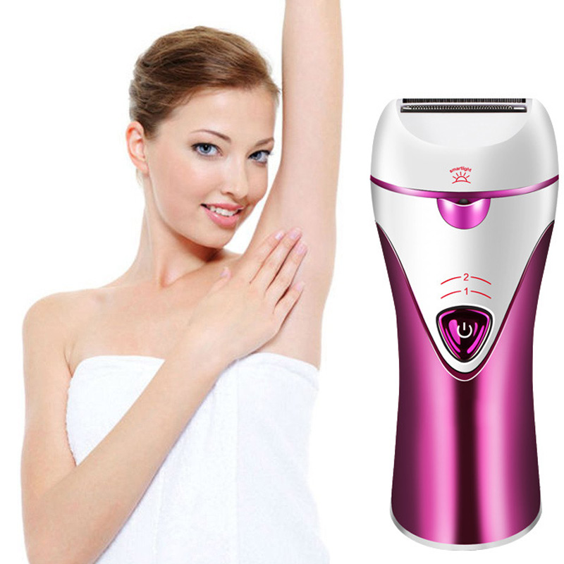 3-in-1 Lady Rechargeable Cordless Hair Removal Body Facial Hair Epilator Trimmer<br>