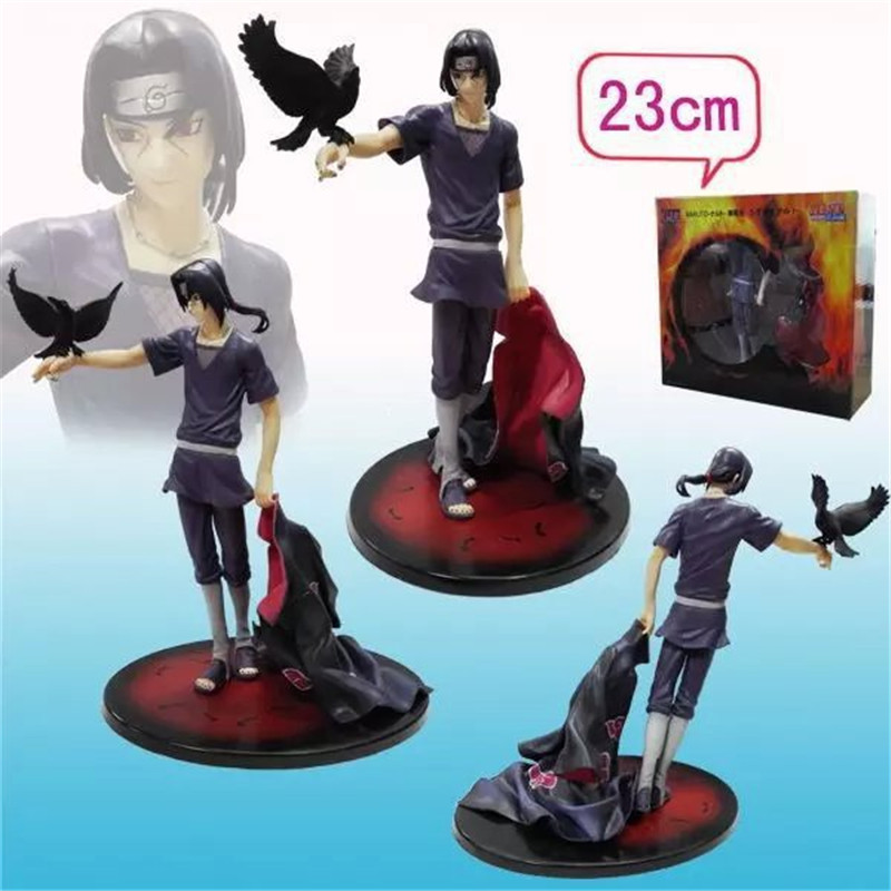 Anime Naruto Shippuden Uchiha Itachi Brinquedos PVC Action Figure Toys Collectible Model Doll Juguetes Kids Toys 23cm<br>