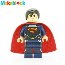 SingleSale Superman Clark Kent MINIFIGs DC DAWN OF JUSTICE Super Heroes Batman Movie Assemble Building Blocks Kids Toys Gifts