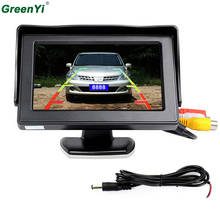 3 in 1 Car Video Parktronic Parking Assist System, 4.3 Desktop Car Monitor + 1 Rear&Front View Camera + 6 Sensors Parking Sensor(China)