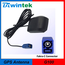 GPS Antenna-G100,(100pcs/ Lot), Fakra-C Connector, External Active Vehicle GPS Antenna, 3m Cable, High Gain(China)