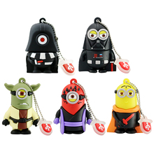 Star War Funny Robot USB Flash Drives 32GB 16GB 8GB 4GB Usb 2.0 Pen Drive 64GB External Storage minions Usb Stick Pendrives Gift