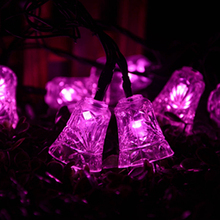 Small Bell Holiday Lighting Solar Powered 40 Leds Outdoor Garden String Lights For New Year Party Wedding Decoration