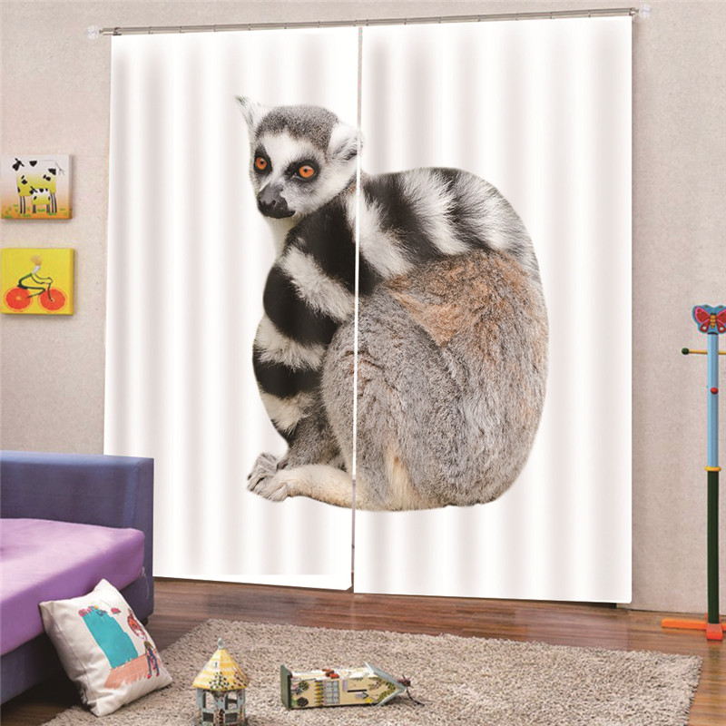 3D Print Digital Cat Modern blackout curtains for living room bedroom for window treatment drapes solid finished A1