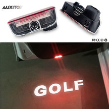 For VW Golf 5 6 7 Jetta MK5 MK6 MK7 CC Tiguan Passat B6 b7 Scirocco New Touareg R line GTI Passat 3D LED Car Door Logo Lights
