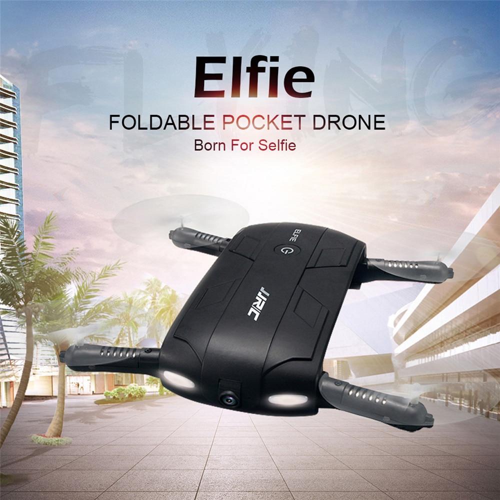 JJRC H37 ELFIE Foldable Pocket Selfie Drone WiFi FPV Phone Control Quadcopter Altitude Hold G-Sensor Mode 720P HD Selfie Drone 01
