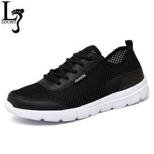 2017 Fashion Men Shoes Summer Breathable Lace up Casual Shoes Big Size 35-48 Light Comfort Light Weight Air Mesh Men Flats