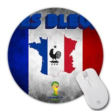 2017 Les Bleus Football Crest France World Cup Wallpaper Mice Mats Speed Computer Optics Mouse Pad Round Mouse Mat Mices Pads(China)
