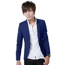 Hot Sales New Arrival Spring Fashion Sapphire Color Stylish Slim Fit Men's Suit Jacket Casual Business Dress Blazers M-3XL Size