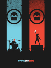 "Twenty One Pilots Music Band Group Fabric poster 32"" x 24"" 17"" x 13""  Decor -05"