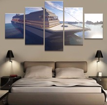 Buy Modern Home Decor Canvas Frame Wall Art Painting 5 Panel Minecraft Game Mine Boat Seaview Poster Living Room Pictures PENGDA for $5.75 in AliExpress store