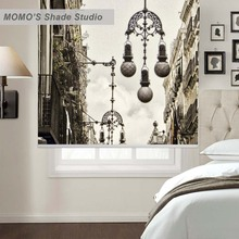 MOMO Thermal Insulated Blackout Fabric Custom Painting Window Curtains Roller Shades Blinds,PRB set345-349