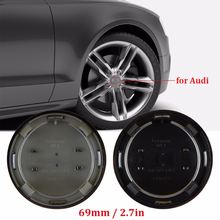4pcs 69mm grey black Wheel Center Cap Hub Caps Covers Badge Emblem for audi For A6 C6 Rims Accessories 4B0601170A car styling(China)