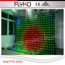 new products innovative product Pixel18 decorate nightclub flexible led mesh curtain 14ft height x 17ft width