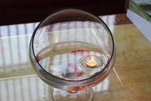 Wholesale Floating Glass Bowl Candle Holders Wishing Pool Christmas Decoration Candlestick x 50(China)