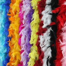 20yards\lot Wedding Party Decorations Turkey Feather Clothing Accessories Multi Color Strip Fluffy Girl Favor DIY Boa Supplies