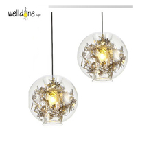 Modern pendent light for dinning room glass globe ball  hanging lamp single light for restaurant free shipping