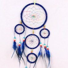 Dreamcatchers Nylon Feather Native American Indian Kids Room Decor Crafts Decal Hot Sale(China)