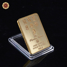 WR Italy Repubblica Italiana Collector Gold Bar 9999 Gold Plated Bullion Best Home Office Decor