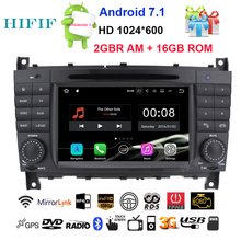HIFIF HD Quad Core Android 7.1.2 Car DVD for Mercedes Benz C Class W203 C200 C230 C320 CLK 200 CLK350 CLK500 GPS Radio Stereo BT(China)