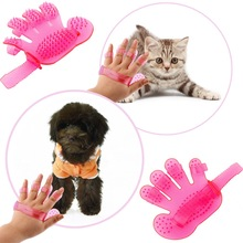 2015 Pet dogs and cats to comb comb massage bath glove Pet bath brush pet products wash head Scalp massage brush Worldwide Sale(China)
