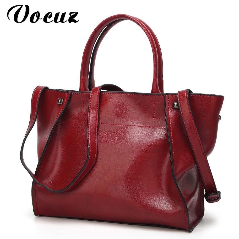 Fashion Women Handbag PU Oil Wax Leather Women Bag Large Capacity Tote Bag Big Ladies Shoulder Bags Famous Brand Bolsas Feminina<br>