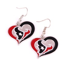 Titans texans Bengals Steelers Seahawks Cowboys Giants dolphins Packers Broncos Ravens Lions Chargers Cardinals saints Earrings(China)
