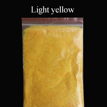 Collorful glitter light yellow applied in printing ink paint cosmetics plastic leather handicrafts ornaments toys coating(China)