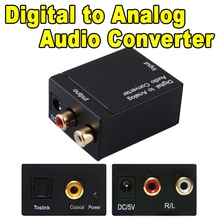 Digital Audio Signals to Analog L / R Audio adapters Digital convert to Analog Audio Converter adapter Optical Coaxial Toslink