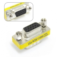 200pcs / lots VGA HD15 Female to Female Mini Gender Changer Adapter ,Free shipping by Fedex