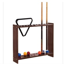 73*57*17CM 12 Holes High-Grade Vertical Pool Cue Rack Wood Billiard Cue Rack