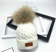 Brand New Pom Children Winter Hat For Girls Hat Knitted Beanies Cap Brand New Thick Baby Cap Baby Girl Winter Warm Hat(China)