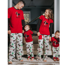 Family Christmas Pajamas Mother Father Baby Clothes Family Look Outfits Cotton Long-sleeve Family Set Pajamas Family Look Sets