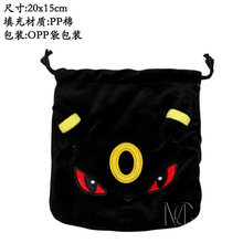Anime Pikachu/Pocket Monster Umbreon Jewelry/Cell Phone Drawstring Pouch/Wedding Party Christmas Gift Bag (DRAPH_4)(China)