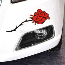 Red Rose or Blue Rose Flowers Car Stickers and Decals Car-covers Car Styling for Tesla Toyota Chevrolet Ford  Hyundai Volkswagen