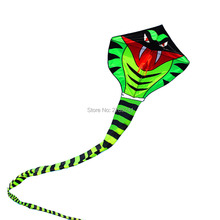 15m/ Power Cyan Cobra green Snake Kite Outdoor Fun Sports stunt kites toys With Flying for kids and Adults toys with flying line