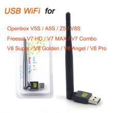 Mini V8 USB WiFi Wireless with Antenna LAN Adapter for freesat v8 super Receiver ,Freesat V7 HD ,V7 Combo,V8s,V8 Super,V8 Golden(China)