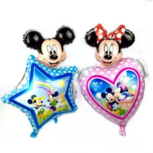 TSZWJ Mickey Minnie Balloons Minnnie Classic Toys Christmas Birthday Wedding Decoration Party inflatable air balloons(China)