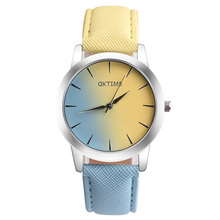 2017 New Desgin Candy Hit color Women Watches Ladies Fashion Casual Leather Watch horloges vrouwen(China)