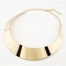 Hotsale Women Exaggerated Jewelry Accessories Gift Girs Silver Gold Big Metal Fake Collar Choker Maxi Necklaces For Female NK131