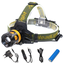 2000LM T6 Headlight Headlamp LED CREE Zoomable Outdoor 18650 Battery Lantern Light Lamp(China)