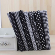 Booksew 7pcs 50cmx50cm Black Cotton Patchwork Fabric For DIY Sewing Quilting Craft Tilda Doll Baby Cloth Textiles(China)